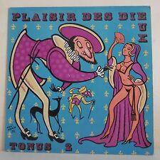 "33T PLAISIR DES DIEUX Disque LP 12"" NANTES Paillard TONUS N° 2 3002 Rare"