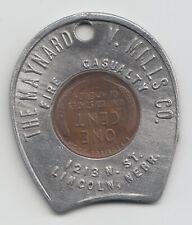 New ListingThe Maynard V. Mills Co. encased cent coin penny Lincoln Nebraska 52