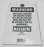 Harbinger #5 Massacre Part 1 Valiant Comics (2017) Cover C Warning Issue, Mint!