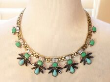ROBERT ROSE ANTIQUE GOLD TONE BLUE & GREEN STATEMENT NECKLACE NWT$42