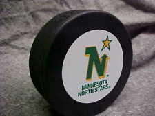 NHL Vintage Minnesota North Stars Logo In GlasCo Official Souvenir Hockey Puck