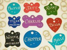 ^^^ BUY 2 get 1 FREE ^^^ Dog ID tags Pet Tag ** inc. Hand Engraving + Split ring