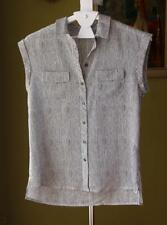 Rayon Button Down Shirt Regular Size Career Tops for Women
