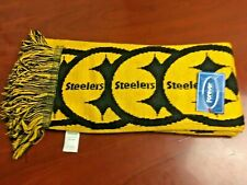 Pittsburgh Steelers NEW! Scarf Knit Winter Neck - Double Sided Fringe One Size