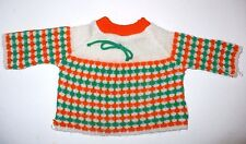 """Vintage Doll Knit Sweater For 15"""" Dolls Cute"""