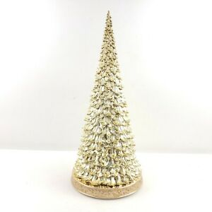 """20"""" Illuminated Cone Tree with Light Show Color Change by Valerie Parr Hill Gold"""