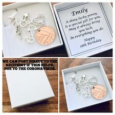 LUCKY PENNY charm, 18th BIRTHDAY, 2002 birth year coin, PERSONALISED gift box