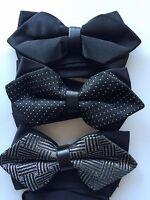 NEW MAN Party Pre-tied Triangle Formal Wedding Function bow tie Necktie bowtie