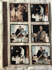 "Norman Rockwell Sewing Quilt Panel 23.5 X 45"" Quilting Treasures Saturday Post"