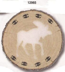Moose Log Glow Resin Stepping Stone Wall Plaque, NIB [12965] OoP by Spoontiques