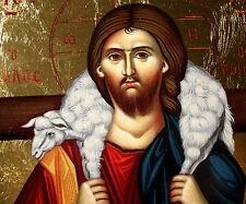 Jesus Christus gute Hirte Ikone Icon good shepherd Ikona Ikonen orthodox Icoon