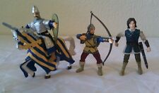 2000 Papo Medieval  Blue & Yellow Tournament Horse with Knight Bundle - Lot!