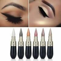 6 Colours Novel Eyeliner Eyeshadow 2 in 1 Eye Makeup Pencil Metallic Shimmer New