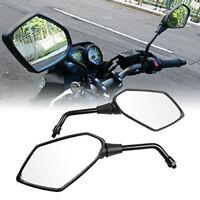 Paar 10mm Rückspiegel Motorrad Spiegel Roller Scooter Universal für Honda Yamaha
