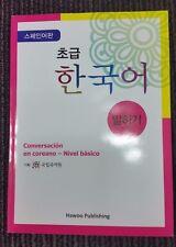 Speaking Korean for Beginners-Korean Language Hangeul Training Book for Spansish