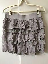 Witchery Silk Rayon Tiered Skirt Size 8 Mushroom Grey