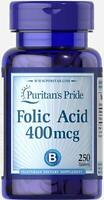 Puritan's Pride Folate (Folic Acid 400 mcg) - 250 Tablets (free shipping)