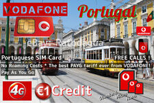Portugese simkaart - Vodafone Portugal +351- Beste tarief! Geen contract!