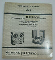 Califone Record Player Turntable Service Manual A-1