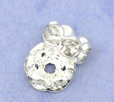 ca 100 Strass Rondelle 6mm Farbe Stahl Kristall Perlen nenad-design AN539