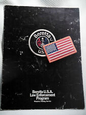1988 Beretta Usa Law Enforcement Program - Weapons, Training, Service - Brochure