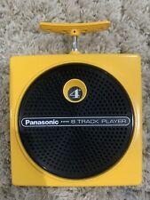 Panasonic Yellow Portable 8 Track Player - Rq 830S Vintage Tested Works Rare