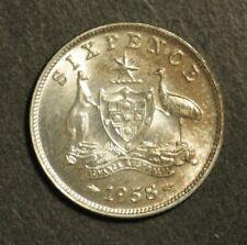 Australia 1958 Sixpence Gem Uncirculated