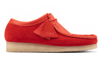 CLARKS ORIGINALS WALLABEE MENS SHOES RED COMBI SUEDE 51267