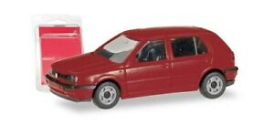 Herpa Minikit 012355-008 - 1/87 VW Golf III 4-türig, Rouge Bordeaux - Neuf