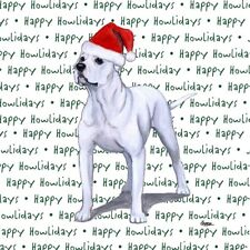 American Bulldog Dog Coasters Christmas Themed