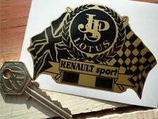 JPS LOTUS RENAULT SPORT Flag & Scroll Race Car STICKER Clio F1 Europa Racing