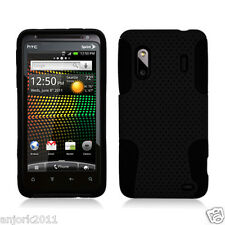HTC Evo Design 4G Hero S Mesh Hybrid Case Skin Cover Accessory Black