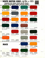1960 1961 1962 1963 1964 1965 TO 1973 KENWORTH WHITE MACK TRUCK PAINT CHIPS MS15
