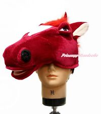Chinese New Year Zodiac Red Horse Warm Hat Head Unisex Animal Costume