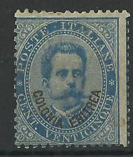 ERITREA 1893 25c BLUE MINT