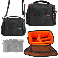 Carry Bag for Nikon CoolPix P7800, P7700, P7000, P900 - Black & Orange