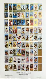 2 RARE Salvador Dali Pieces Tarot Card Print & Dali in Portligat  FREE SHIPPING