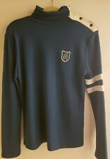 TheLees Mens Blue Longsleeve Shirt with white stripes on left sleeve
