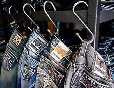 Rock Revival Jeans Custom Store Display / Closet Gun Metal Hooks