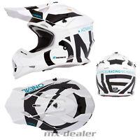 O'Neal 2019 2series Slick weiß schwarz Helm Crosshelm MX Motocross Cross Quad