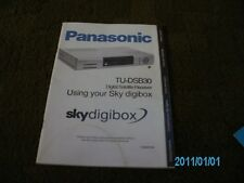 Instruction booklet for Panasonic Digibox TUDSB30