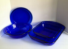 Anchor Hocking Cobalt Blue Set Of Baking Dishes 4 Pieces