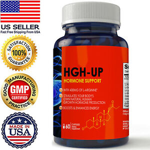Natural Body Hormone Growth Support Boost Energy Dietary Capsules Free Ship New