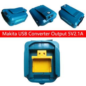 2 USB Port Phone Charger Adapter Li-ion Battery For Makita 18V 14.4V BL1830/1430