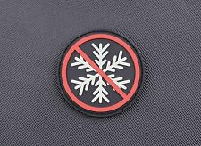 3D PVC No Snowflakes Allowed GITD Morale Patch Glow Generation Snowflake Trigger