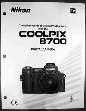 Nikon CoolPix 8700 Digital Camera User Guide Instruction  Manual