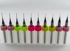 "10 Miniature Drills - Two Each: .006"" .008"" .010"" .012"" .0135""  Model SA-10 LU"