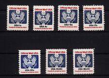 103641/ USA 1983 - Mi D 99/105 - Dienstmarken - ** - M€ 15,00