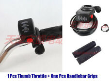 Electric Bicycle 24V Thumb Throttle Handle Bar Grips Gas Twist Throttle Scooter
