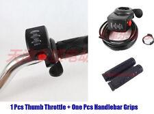 48V Gas Twist Throttle Thumb Throttle Handle Bar Grips Scooter Electric Bike KIT